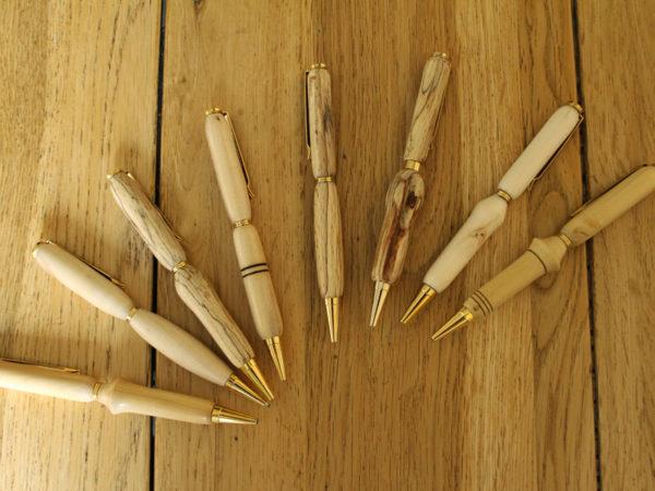 objets tournés - stylos bois - pièces uniques - L'Atelier de Valérie, vente en ligne