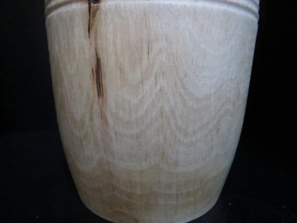 Pot Iris en NOYER massif. Tournage sur bois. Fabrication artisanale. Pièce unique.L'atelier de valérie. Domessin .Savoie.