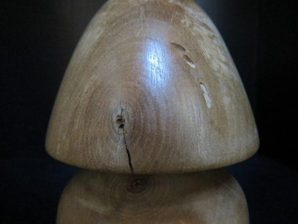 Champignon Sous-Bois en NOYER massif. Tournage sur bois. Fabrication artisanale. Pièce unique. L'atelier de valérie. Domessin. Savoie